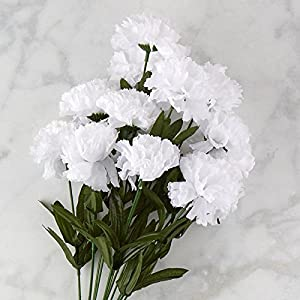 Poly Silk Carnation Bush | 14 Blooms | for Indoor Decor 3