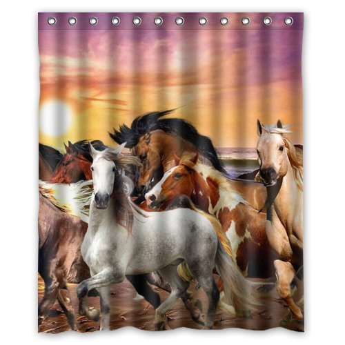 Tic-Tac Curtains Home Decor Horse Shower Curtain Cover ,60 X 72-Inch -