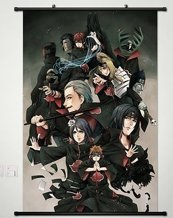 Wall Scroll Poster Fabric Painting For Anime Naruto Key Role