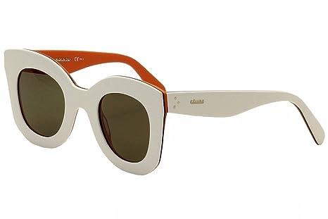 145ef13f703 Celine CL 41093 Sunglasses AH3 70 White Blue Orange Frame   Grey ...