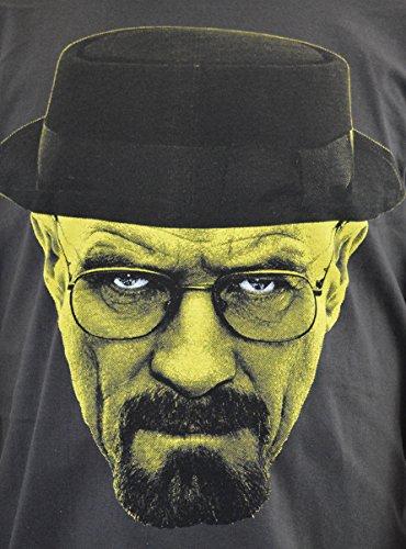 "FACES T-shirt Uomo ""WALTER WHITE Breaking Bad"" Stampa Serigrafica Manuale ad Acqua"