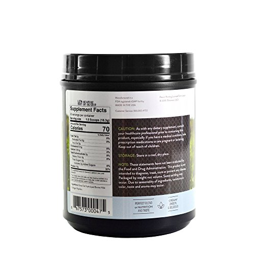 Hydrolized Collagen Peptides Beef Protein Powder 16g - Great Tasting, Quality Pasture-Raised Grass-Fed Collagen Peptides Broth Powder Drink Mix (Pure) by Perennial (Image #1)