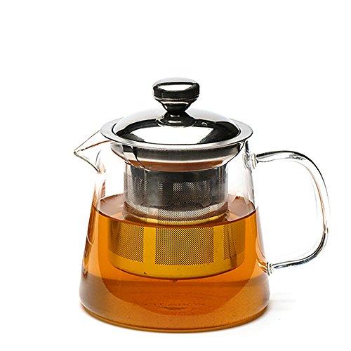 Teabox Urban Teapot (Borosilicate glass teapot, Stainless steel infuser, 16 fl oz)