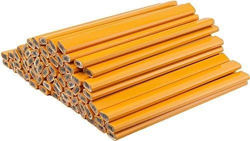 Medium Black Lead, Yellow Barrel Carpenter Pencil. 36 Pack