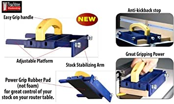 Peachtree Woodworking Power Push Adjustable Push Block Table Saw Accessories Amazon Com