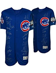 Chicago Cubs 2016 MLB World Series Champions Team Signed Majestic Blue Authentic World Series Jersey with 20 Signatures - Limited Edition of 75 - Fanatics Authentic Certified