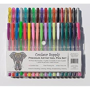 Amazon Write Dudes Neon Fashion Gel Pens Assorted Colors 8 Pack