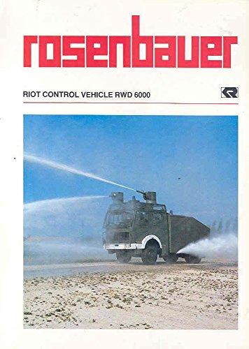 1981 Rosenbauer RWD6000 Riot Control Truck Brochure