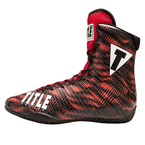 TITLE Predator Boxing Shoes, Red/ Black, 11