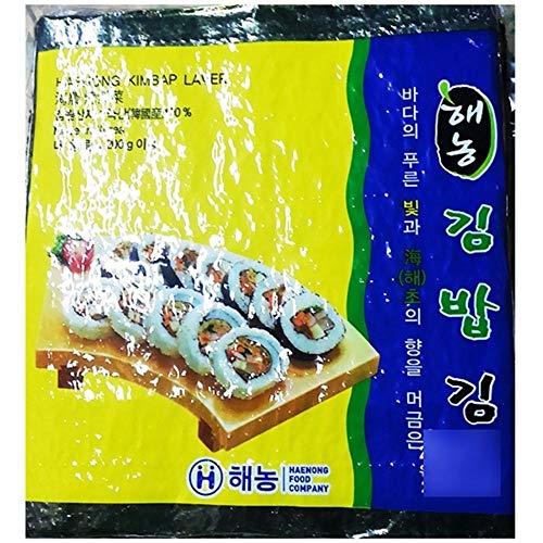 Roasted Seaweed Laver 100 pieces, No Seasoned by Haenong