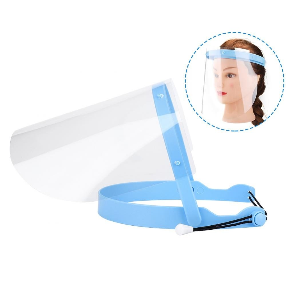10pcs Adjustable Dental Face Mask Professional Dental Protective Face Shield Detachable Blue Frame for Home and Clinic