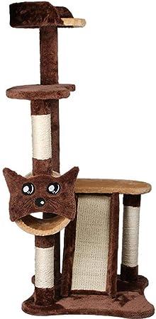 Meilandeng Árboles de Actividades para Gatos Grande chasis sólido Gato rasguñar-Resistente Juguete del Gato rasguño Junta 60 * 50 * 120 cm: Amazon.es: Hogar