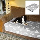 Evelots Fleece Pet Blanket, 46''L x 36''W, Soft & Durable For Cats & Dogs, Grey
