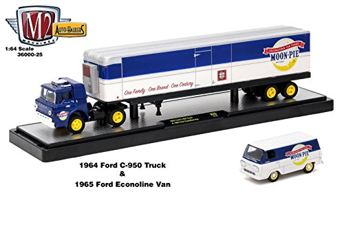 New 1:64 M2 MACHINES AUTO-HAULERS RELEASE 25 - 1964 FORD C-950 TRUCK & 1955 FORD ECONOLINE VAN Diecast Model Car By M2 Machines ()