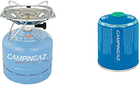 Campingaz Hornillo Gas Super Carena R, Cocina Portátil, 1 Fuego, Funciona con los Cilindros Campingaz R904/907, 3000 W