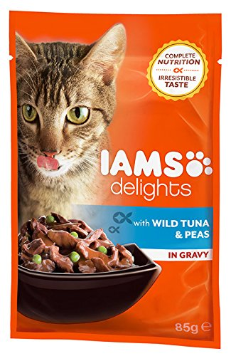 IAMS Delights Adult with Wild Red Tuna & Peas In Gravy Comida para Gatos - 85