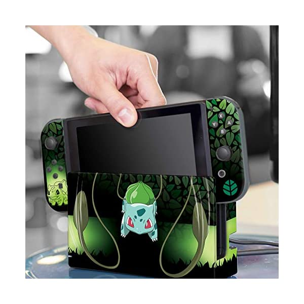 "Controller Gear Officially Licensed Nintendo Pokémon Switch Skin & Screen Protector ""Bulbasaur Elemental Set 1"" 8"