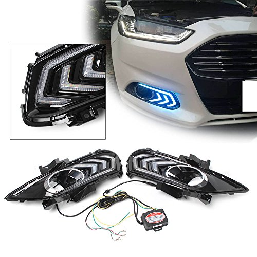 [해외]GZYF Pair 20W LED Light DRL Daytime Running Light Lamp Replacement Fits Ford Fusion Mondeo 2013-2015 / GZYF Pair 20W LED Light DRL Daytime Running Light Lamp Replacement Fits Ford Fusion Mondeo 2013-2015