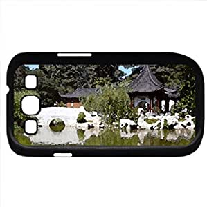 Asian gardan - Case Cover for Samsung Galaxy S3 i9300 (Ancient Series, Watercolor style, Black)