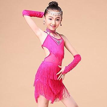 qxj Niños Faldas de baile con flecos falda de los niños Disfraces ...