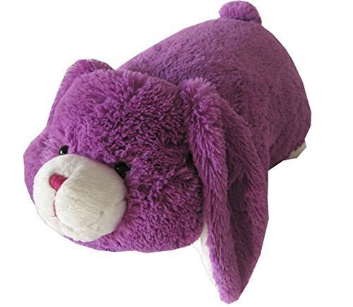 Purple Bunny Zoopurr Pets 2-in-1 Stuffed Animal and Pillow L