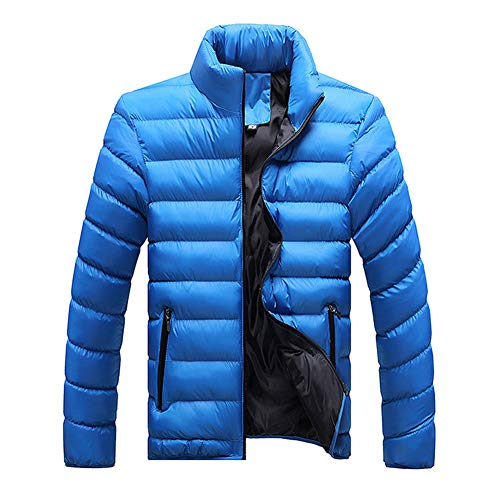 Manteau Col Doudoune Blousons Newbestyle Chaud Homme Hiver Blue2 Light Montant Parka OdqHBwUx
