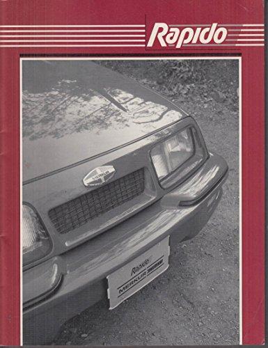 - Rapido Merkur Mustang SVO Turbo Thunderbird / Cougar Parts Catalog 1995-6