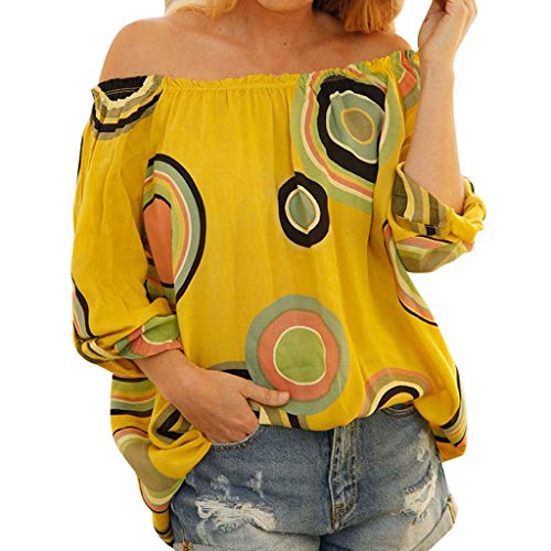 TIANMI Women American Flag Off Shoulder Mesh Panel Blouse Long Sleeve Top Shirt Yellow (Floral American Hooked Rug)