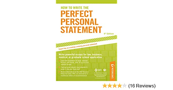 Amazon Com How To Write The Perfect Personal Statement Peterson S