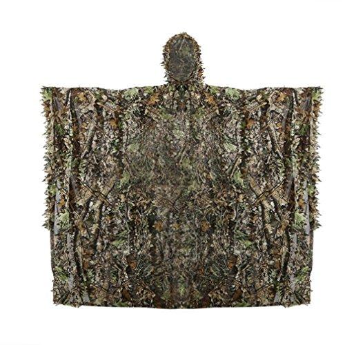 Best Ghillie Suit Ponchos - Mexidi Woodland Camouflage Ghillie Poncho Leaf
