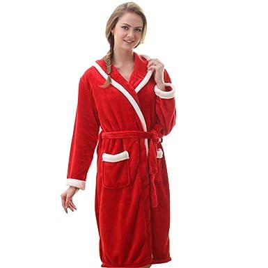 d874a5f9b9 Classic Women s Bathrobe Long Robe Warm Winter Pajamas at Amazon ...