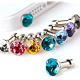 ANGELANGELA Adorable Cat Dog Diamond Dust Plug Stopper Universal 3.5mm Anti Dust Earphone Jack Plug Cap for iphone Samsung and other Smartphone (10Pc Diamond)