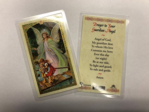 Holy Prayer Cards for The Prayer to Your Guardian Angel Set of 2 in English