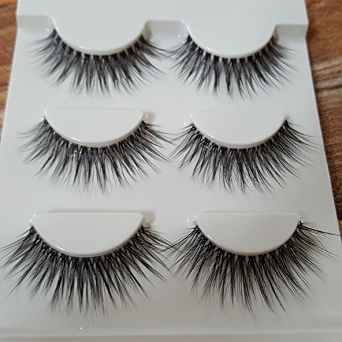 [Sexy 100% Handmade 3D mink hair Beauty Thick Long False Mink Eyelashes Fake Eye Lashes Eyelash] (Halloween Costumes 03)