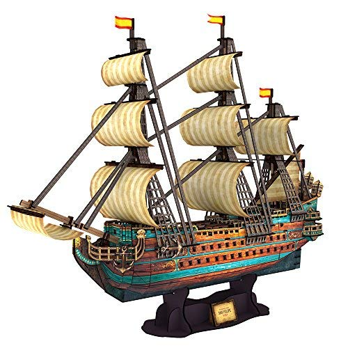CubicFun T4017h The San Felipe Vessel Models 3D Puzzle, 248 Pieces