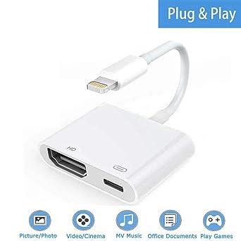 Boomly HDMI Adaptador Digital AV Compatible con iPhone X XR XS MAX ...
