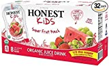 Honest Kids Certified Organic Fruit Quencher, 6.75 Ounce Pouches (Pack of 32)