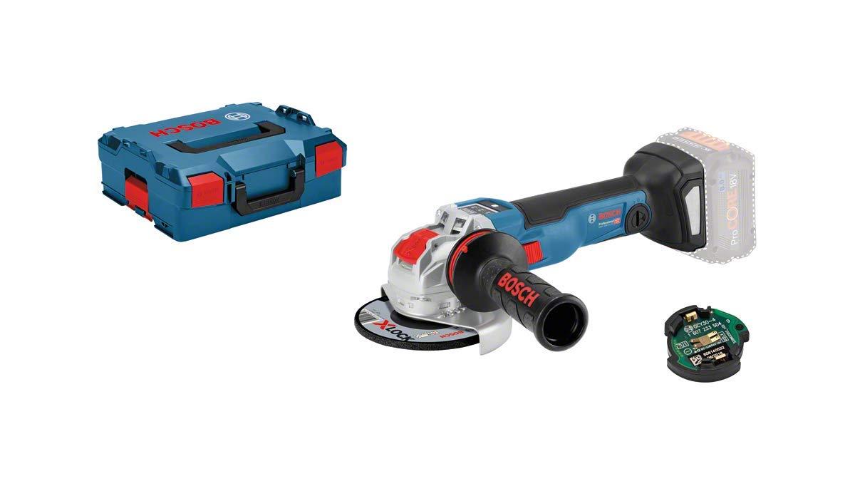 ohne Akku, 18 V, X-LOCK, Connected, Scheiben/Ø:125mm, in L-BOXX Bosch Professional Akku Winkelschleifer GWX 18V-10 SC