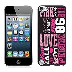 Personalized Custom Picture iPod Touch 5,Love Pink 3 Black iPod Touch 5 Custom Picture Phone Case