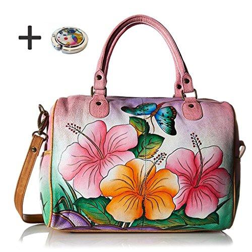 anna-by-anuschka-satchel-handbag-purse-holder-ziparound-hawaiian-hibiscus