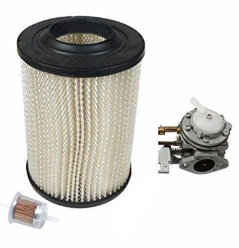 Golf Cart Tune Up Kit Fits Harley Davison Columbia 71-81 Carburetor & Air, Inline Fuel Filters