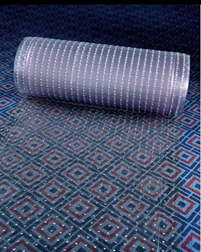 Joye Clear Plastic Runner Rug Carpet Protector Mat Ribbed Multi-Grip 26in X 72in (Clear Plastic Rugs Area)