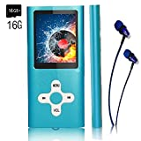 Mp3 Player/Music Player,EVASA with a 16 GB TF Card, Maximum support 32GB,Portable Digital Music Player/Video/Voice record/FM Radio/E-Book Reader/Photo Viewer,Ultra Slim 1.8''Screen