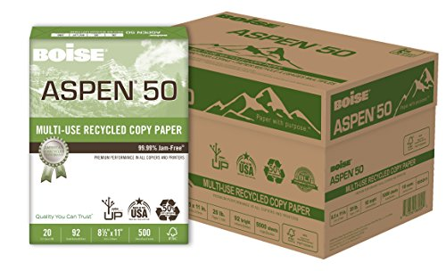 - BOISE ASPEN 50% Recycled Multi-Use Copy Paper, 8.5