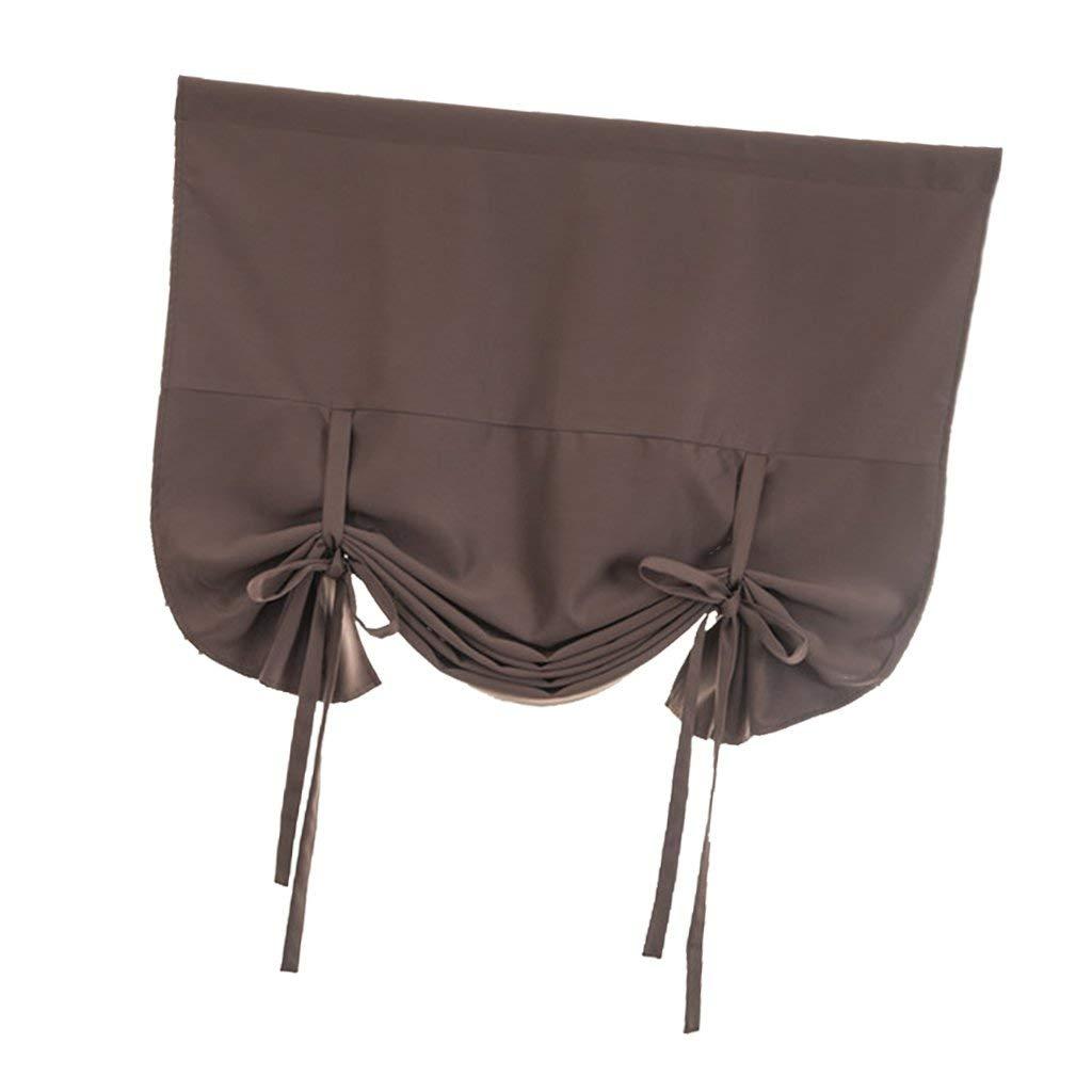 Color : Grau, Size : Size SFHTFTRGJRYJ Tenda Oscurante 117X160Cm Tenda Opaca Tendina Decorativa Tenda per Unico Finestra Beige Tenda Romantica Casa semplicit/à Tema di Vita Decorazione Tende