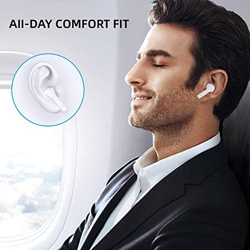 Wireless Earbuds, GAMURRY Bluetooth 5.0 Wireless Headphones with Fidelity Sound,Smart Touch Control, IP67 Waterproof, 25Hrs Playtime with Type-C Stereo in-Ear Earphones Built-in Mic for Sport