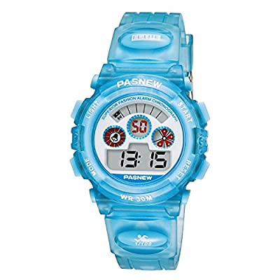 Kids Digital Sports Watches Girls Boys Waterproof Chronograph Alarm Running Watch Unisex Fun Wrist Watch, Automatic Day