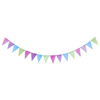 Banner colorful. Wernnsai pastel party supplies