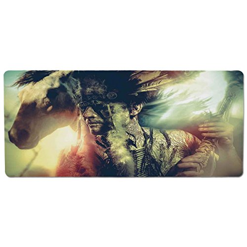 Mouse Pad Unique Custom Printed Mousepad [ Tattoo Decor,Angel Wings Skull and Heart Full of Blood Symbol of Real Love Image,Red White and Black ] Stitched Edge Non Slip - Skull Wing Tattoo