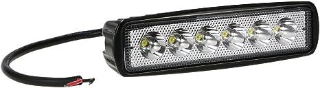 12V,18W LED Lights Work Bar Lamp Driving Fog Offroad SUV 4WD Auto//Car//Boat//Truck